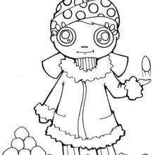 Desenhos para colorir de desenho de uma menina com bolas