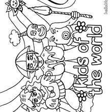 Desenhos para colorir de desenho de crianas do mundo para colorir pthellokidscom