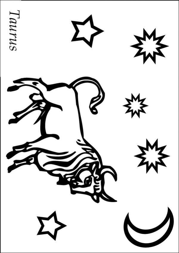 Desenhos para colorir de touro, o segundo signo do zodíaco