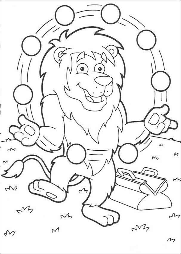 Desenhos para colorir de desenho do leão fazendo