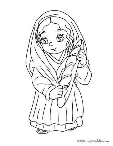 Desenhos para colorir de desenho de uma camponesa com um