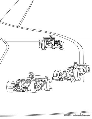 Desenhos para colorir de desenho de uma corrida de fórmula