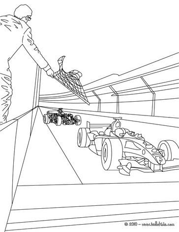 Desenhos para colorir de desenho do fim da corrida de
