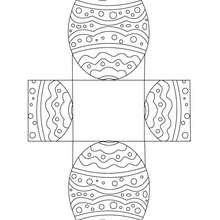 Desenhos para colorir de caixa de ovo de páscoa para