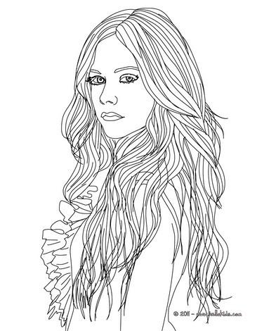 Desenhos para colorir de desenho da designer de moda avril
