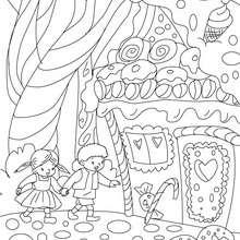 Desenhos para colorir de desenho do conto joão e maria