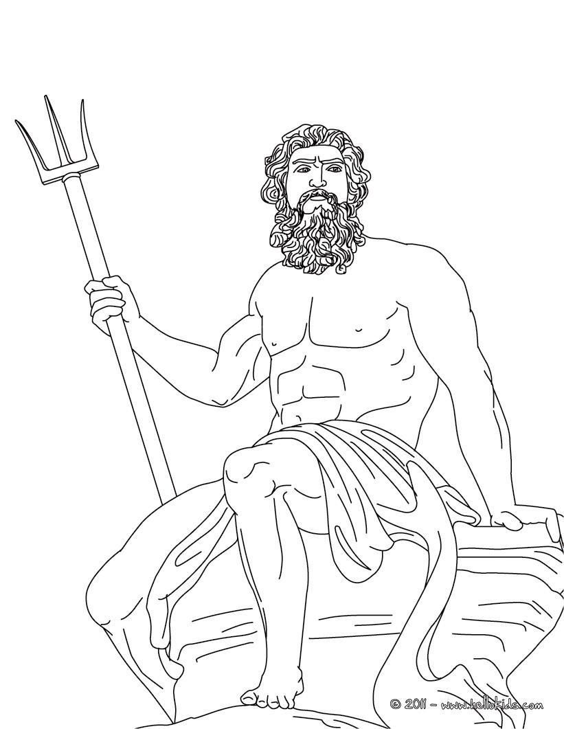 Desenhos para colorir de desenho de poseidon deus grego