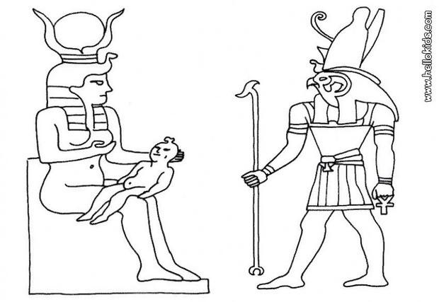 Desenhos para colorir de a família egípcia para colorir
