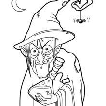 Dia das Bruxas : Desenhos para colorir, Artes manuais para
