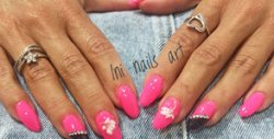 Красиви нокти! Маникюр с гел лак и 2 декорации
