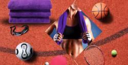 Комплект от 3 спортни кърпи Active с бродерия, в цвят по избор
