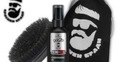 Грижа за брадата! Подхранващо олио Schwarzkopf и четка от естествен косъм, плюс бонус - велурена чантичка за съхранение
