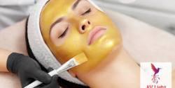 Подмладяваща и антиоксидантна терапия за лице и шия с биоактивно злато