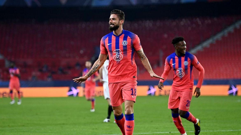 Fabulous Olivier Giroud hits four as Chelsea hammer Sevilla and secure top  spot - Eurosport