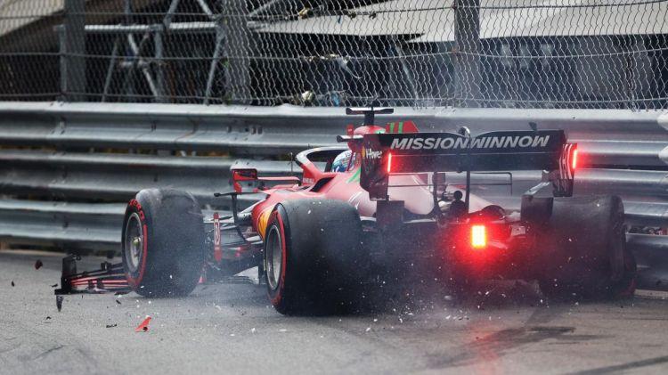 Formula 1 news - Ferrari driver Charles Leclerc takes Monaco pole despite  losing front wing in crash - Eurosport