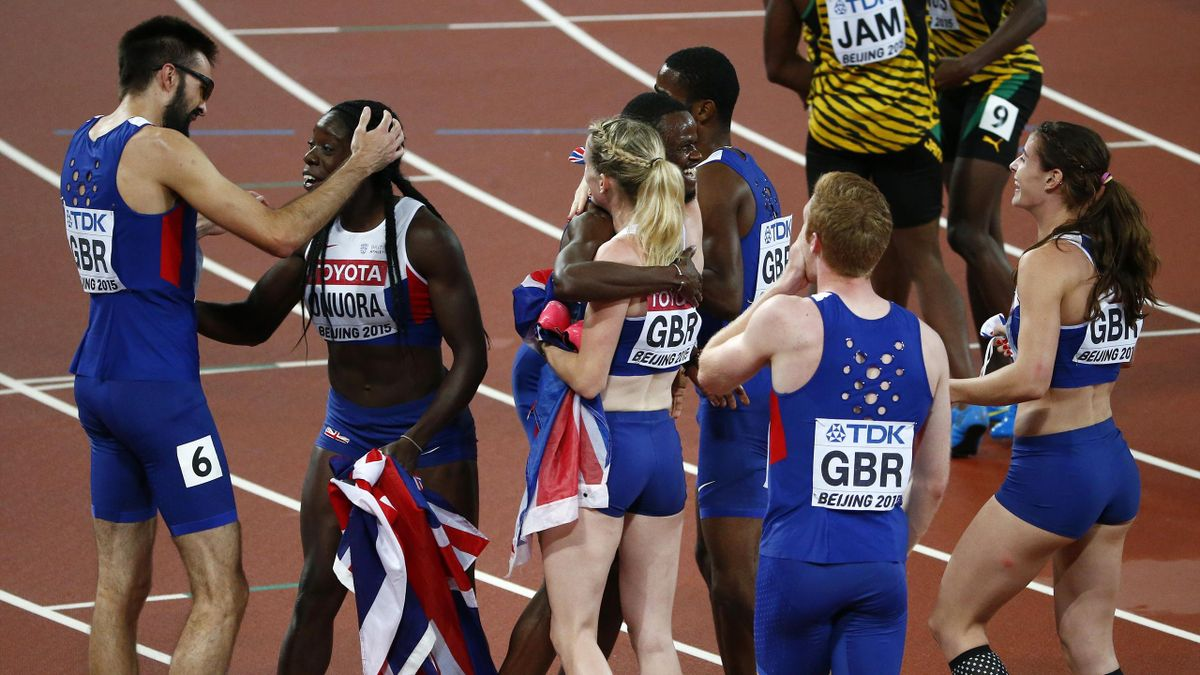 Great Britain claim double 4x400m relay bronze in dramatic finish in Beijing - Eurosport