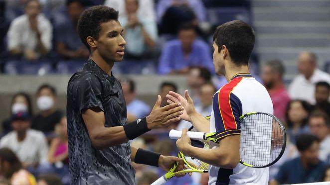US Open 2021 : Félix Auger-Aliassime et Carlos Alcaraz.