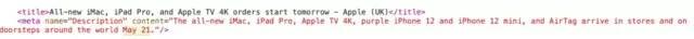 Apple basın bülteni kaynak kodu