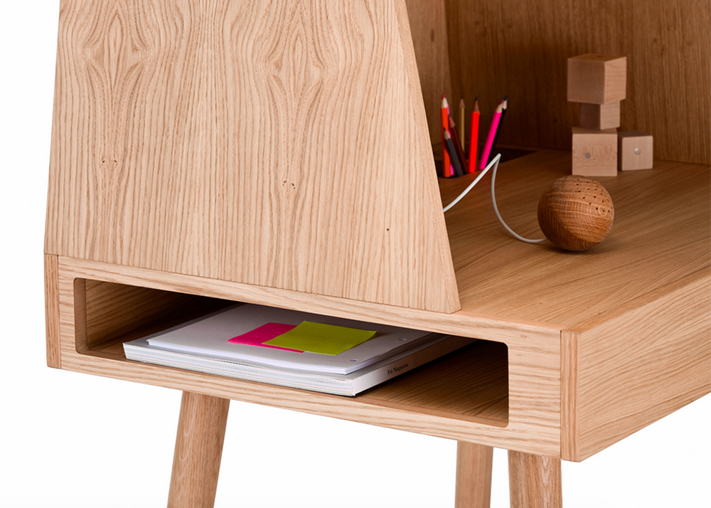 Kristina Kjrs Wooden Desk is a Sweet Modern Design That