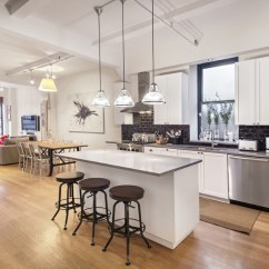 2 Tier Kitchen Island Red Rugs And Mats Enjoy The High Life In This 11th-floor Flatiron Loft, For ...