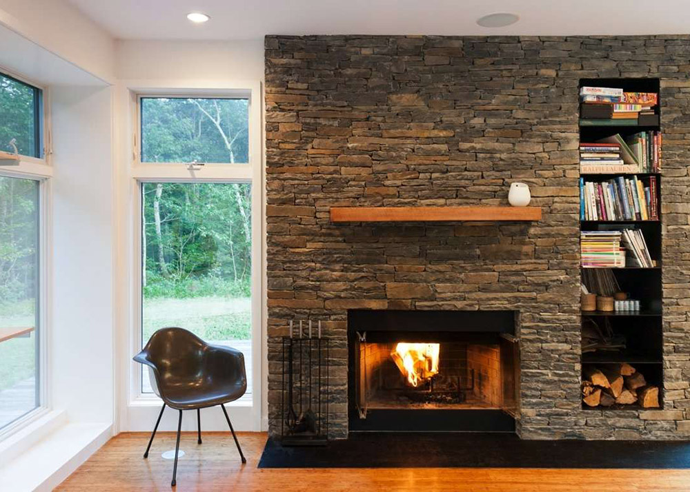 Building A Stone Fireplace Res4's Modern Prefab Home Beautifully Combines Wood And