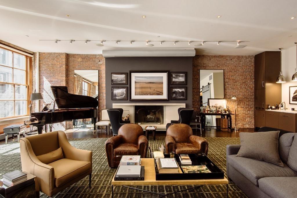 new york loft style living room kitchen flooring ideas facebook co founder lists his elegant bespoke soho for 8 75m