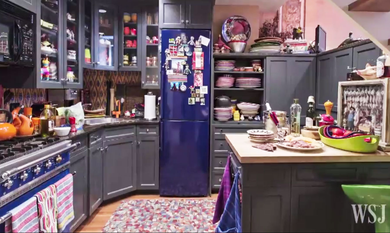 rachael ray kitchen outdoor kitchens lowes video go inside s colorful and unbelievably cute east village home
