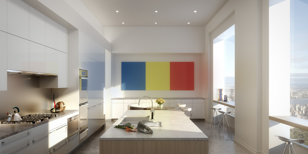 oak kitchen pantry glass table 432 park in numbers: new renderings and superlatives will ...