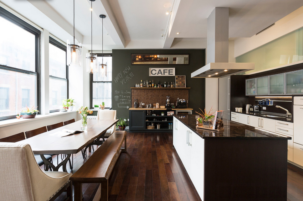 NYC Bachelor Pad Features Coffee Bar and India Inspired