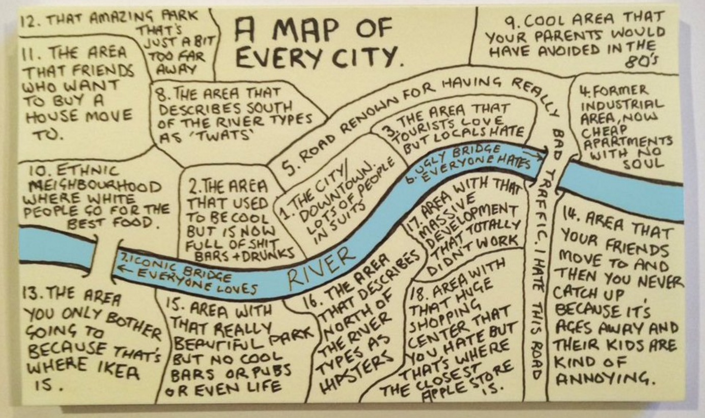 This Map Of Every City In The World Is Hilariously Spot On 6sqft