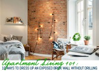10 Ways to Decorate an Exposed Brick Wall Without Drilling ...