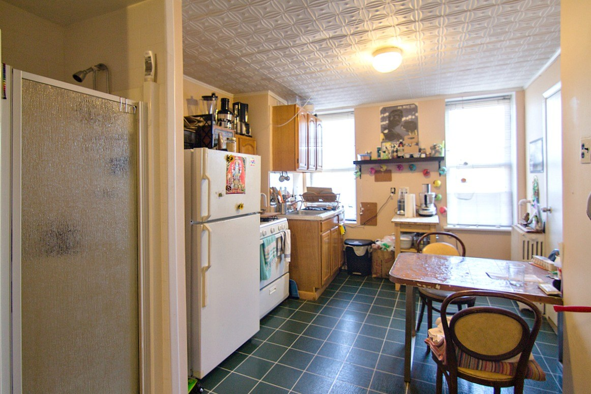 kitchen for rent copper accents will a stabilized williamsburg address make shower in the hip
