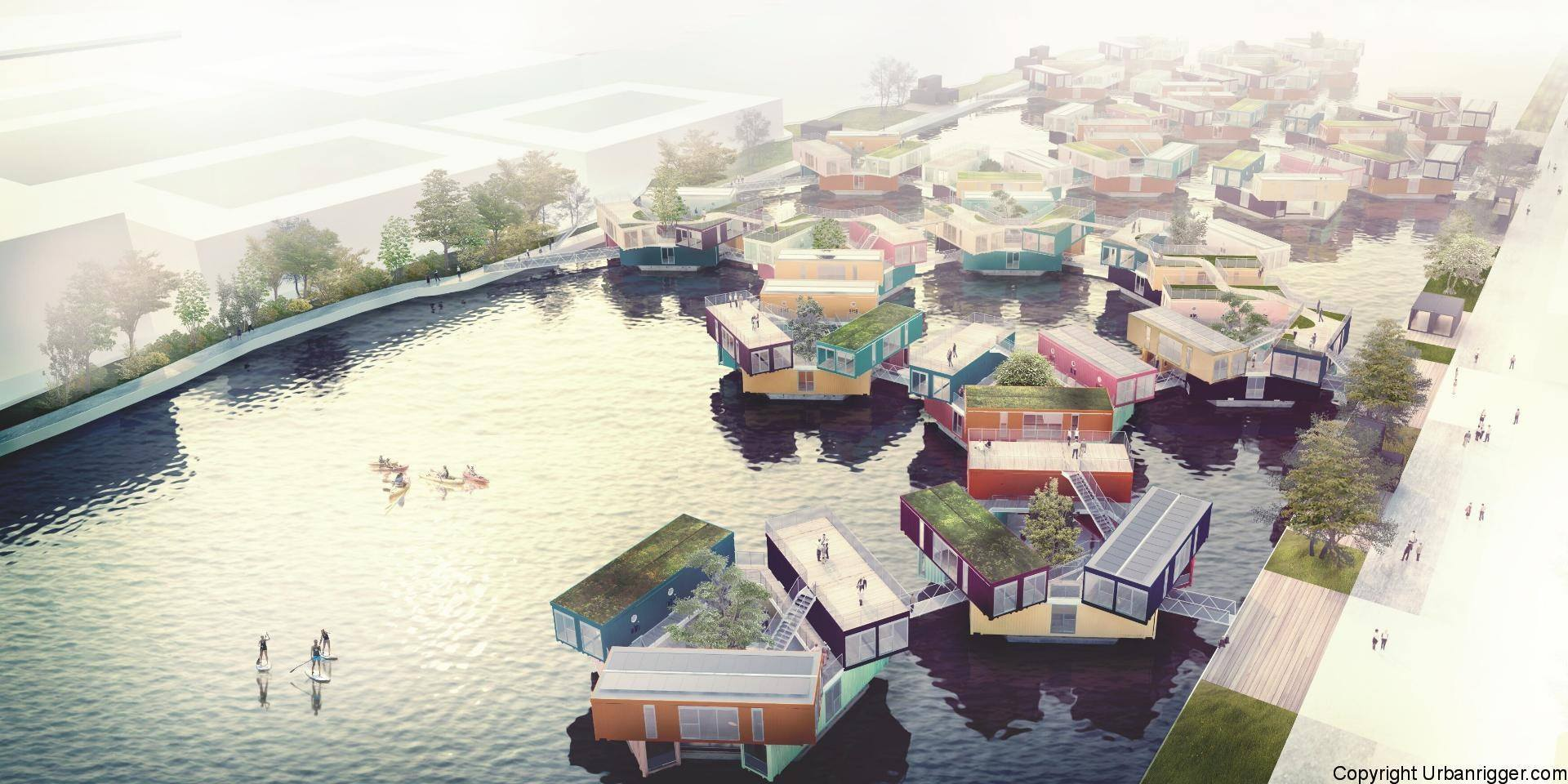 Could Bjarke Ingels Floating Shipping Containers Work For