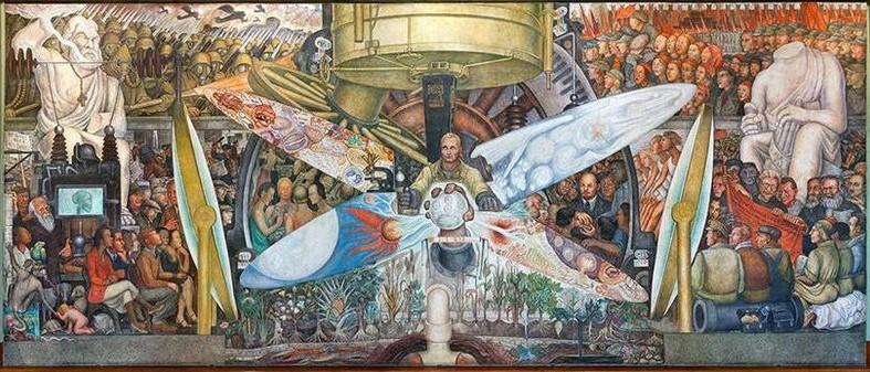 Over new york is al zoveel gezegd en geschreven, dat ga ik voorlopig niet doen. Diego Rivera S Psychedelic Rockefeller Center Mural Was Destroyed Before It Was Finished 1934 6sqft