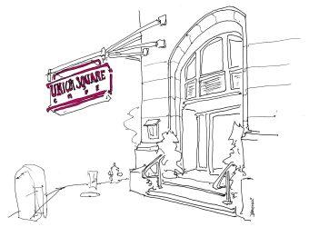 restaurant drawing john cafe drawings donohue nyc urban food restaurants artist york square writer lens every 6sqft