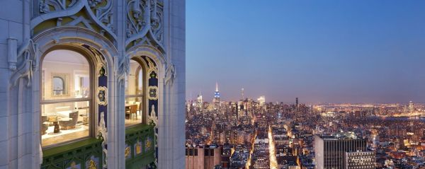 Massive Penthouse In Woolworth Building' Iconic Copper 'pinnacle' Lists 110m 6sqft