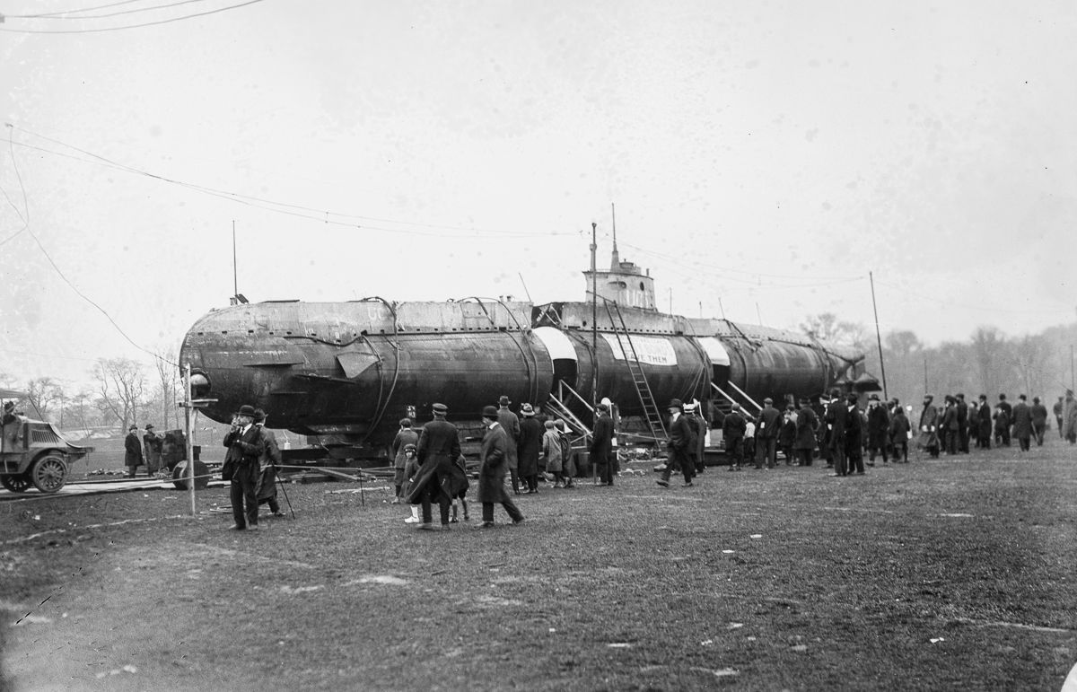 In A German U Boat Submarine Ended Up In Central