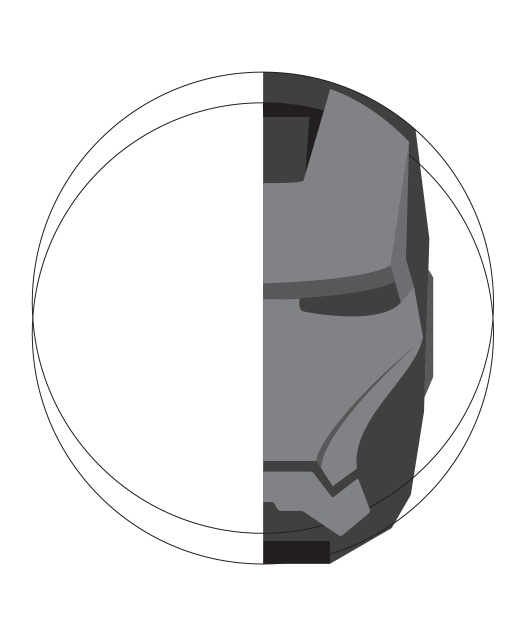 Iron Man in Illustrator and Photoshop