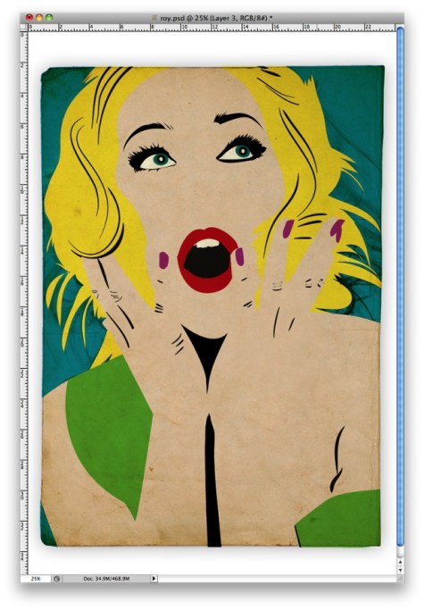 Simple estilo de Roy Lichtenstein en Illustrator y Photoshop