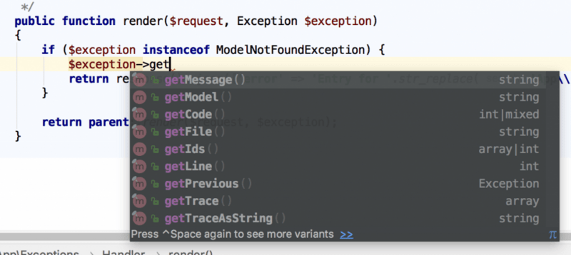 Laravel API error handling: how to return a message when an exception occurs | Develop Paper