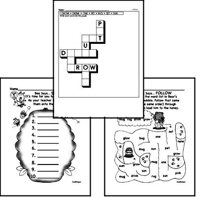 First Grade Spelling, Vocabulary, and Word Study Workbooks