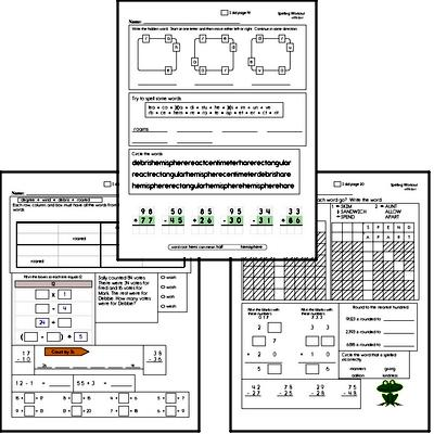 Third Grade Spelling, Vocabulary, and Word Study Workbooks