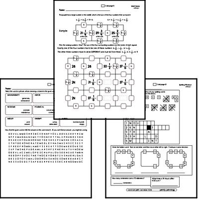 Fifth Grade Spelling, Vocabulary, and Word Study Workbooks