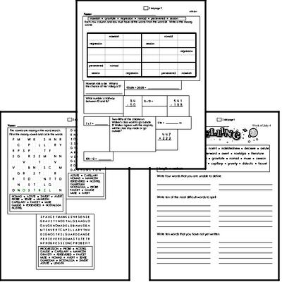 Middle School Spelling, Vocabulary, and Word Study