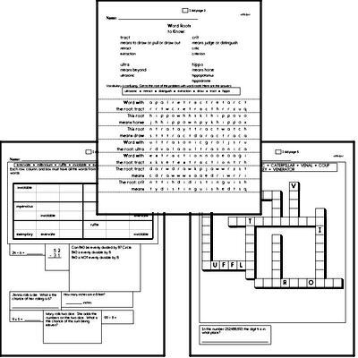 High School Spelling, Vocabulary, and Word Study Workbooks