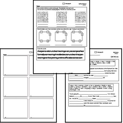 Sixth Grade Spelling, Vocabulary, and Word Study Workbooks