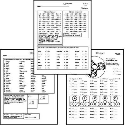 Fifth Grade Spelling, Vocabulary, and Word Study Workbooks