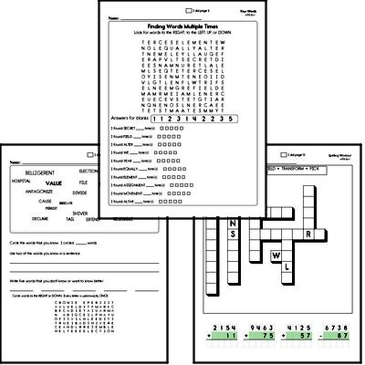 Third Grade Spelling, Vocabulary, and Word Study Workbooks