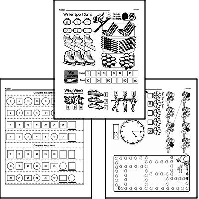 Free Number Pattern and Sequence Worksheets PDFs for First