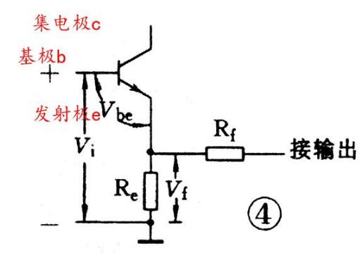 Series and parallel feedback amplification circuit diagram